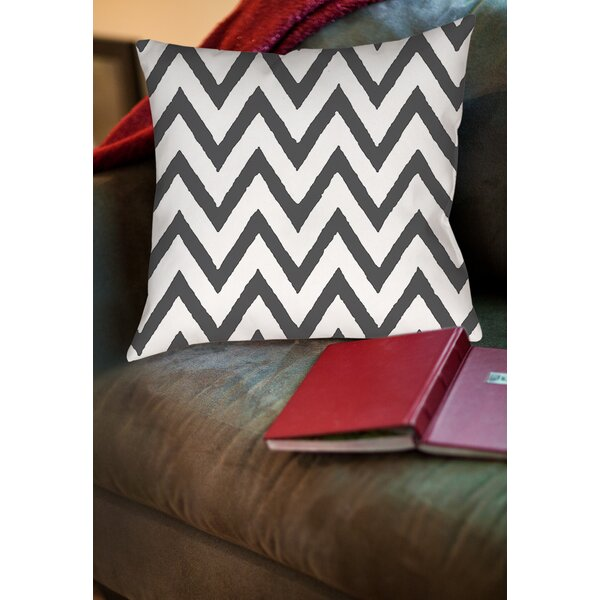 Zig Zag Printed Throw Pillow by Manual Woodworkers & Weavers