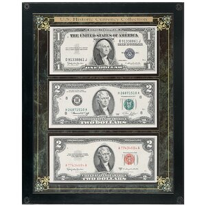 'Historic U.S. Currency' Framed Memorabilia by Andover Mills