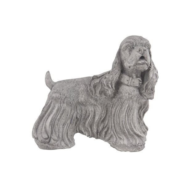 Faiths Traditional Textured Dog Resin Figurine by Charlton Home