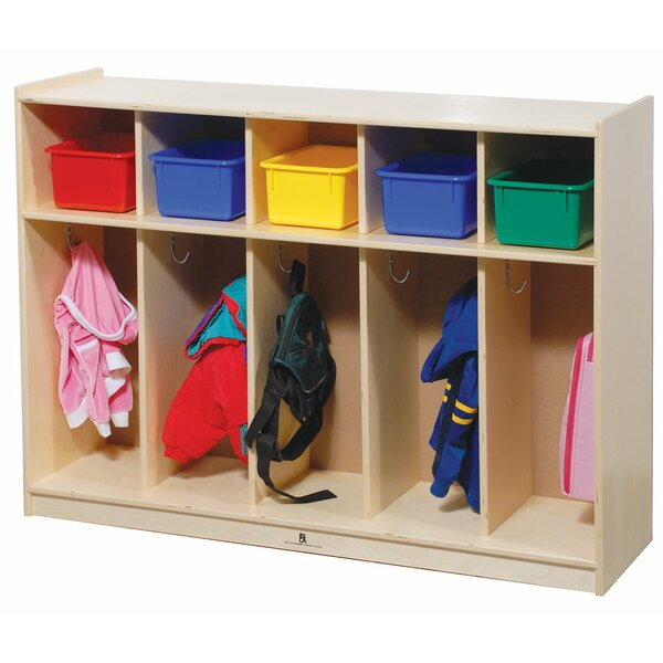 2 Tier 5 Wide Coat Locker by Angeles