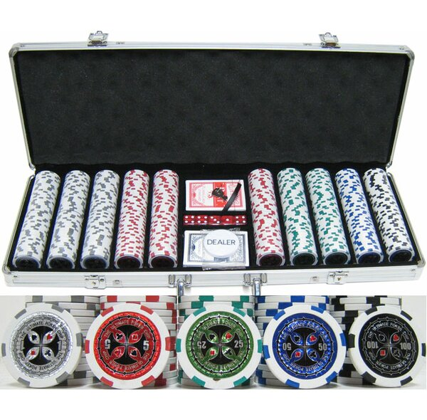 500 Piece Ultimate Poker Chip Set by JP Commerce