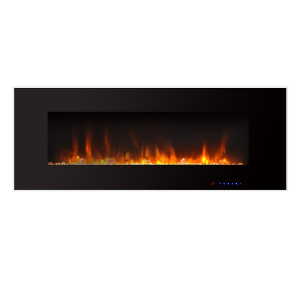 Krystal Wall Mounted Fireplace by Orren Ellis