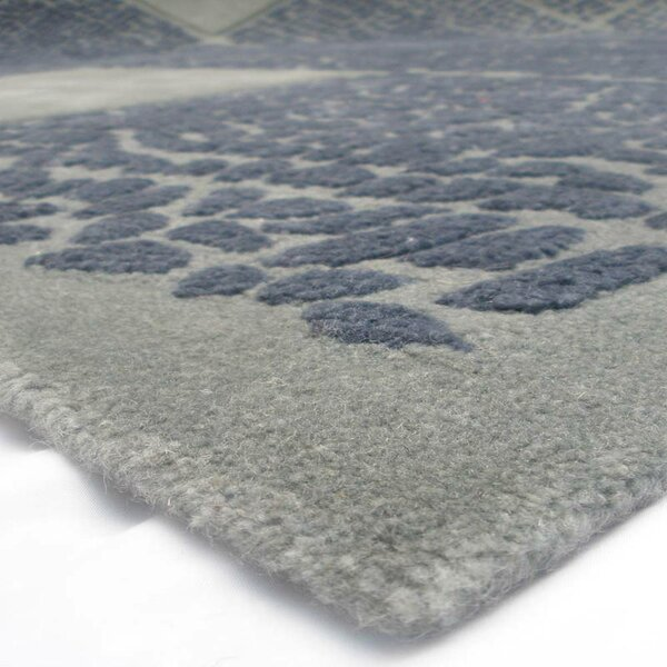 Shellman Rochedeo Hand-Tufted Wool Gray Area Rug