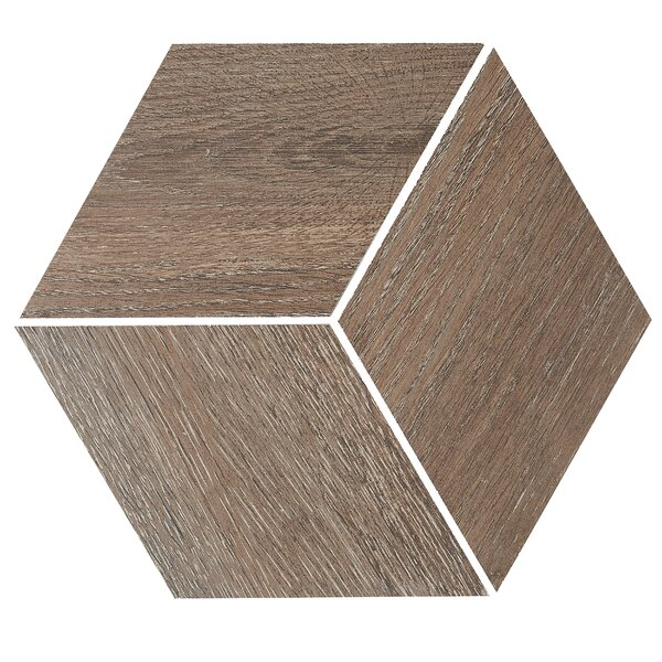11.5 x 11.5 Porcelain Wood Look Tile in Hickory Pecan by Itona Tile
