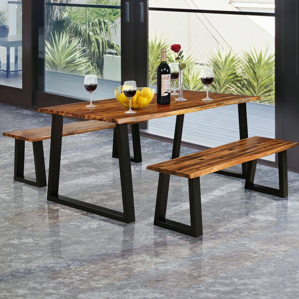 Serra Picnic 3 Piece Dining Set by Foundry Select