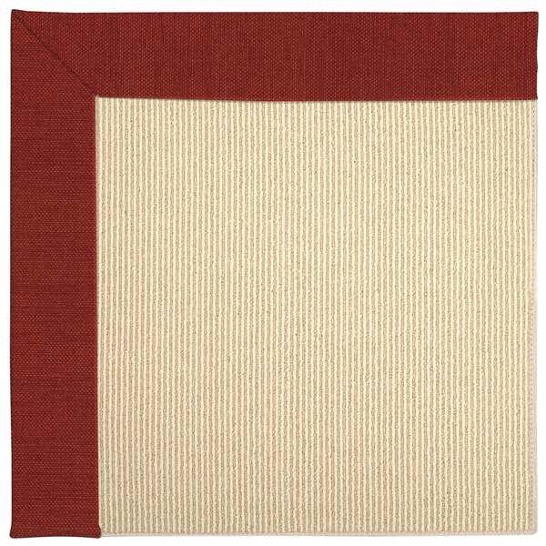 Lisle Machine Tufted Tomatoes/Brown Indoor/Outdoor Area Rug by Longshore Tides