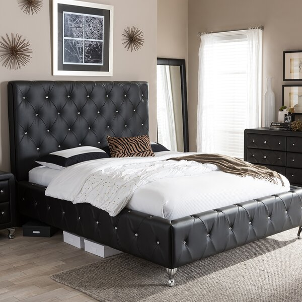 Stella Queen Upholstered Platform Bed by Wholesale Interiors