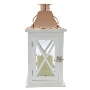 Best Price LED Metal Lantern By Rosecliff Heights