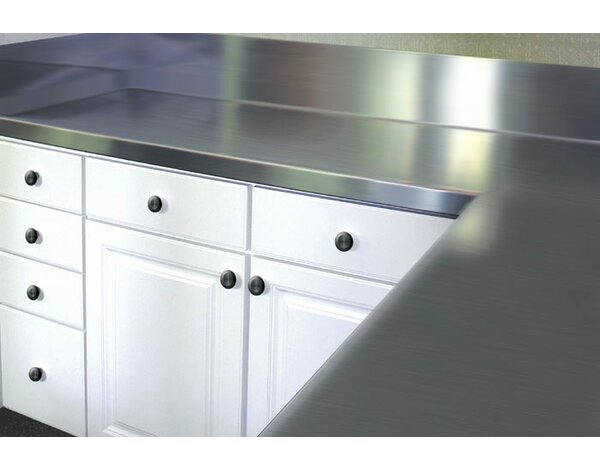 Stainless Steel Counter Top with Blacksplash by A-Line by Advance Tabco