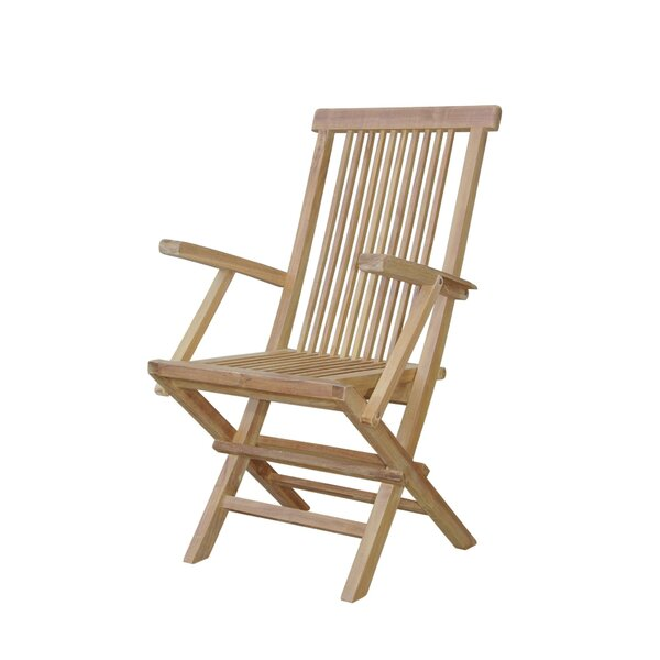 Bristol Folding Teak Patio Dining Chair by Anderson Teak