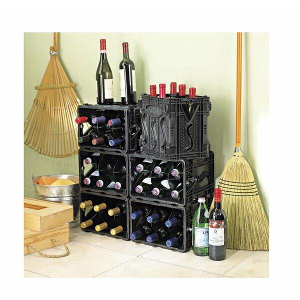 Storvino Nero 6 Bottle Floor Wine Wine Rack (Set of 2) by Wine Enthusiast