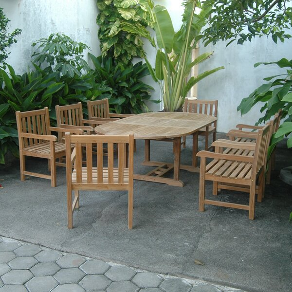 Kranz Extension 9 Piece Teak Dining Set by Bayou Breeze