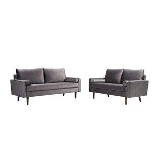 Chrisman Zarina 2 Piece Standard Living Room Set by Mercer41