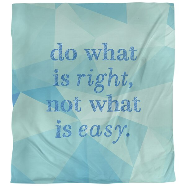 Quotes Faux Gemstone Do What Is Right Single Reversible Duvet Cover