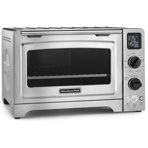 1 Cubic Foot Stainless Steel Convection Countertop Oven by KitchenAid