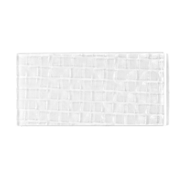 Metro 3 x 6 Glass Subway Tile in Snow by Abolos