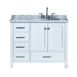 Reviews Utley 43 Rectangular Single Bathroom Vanity Set ByAndover Mills