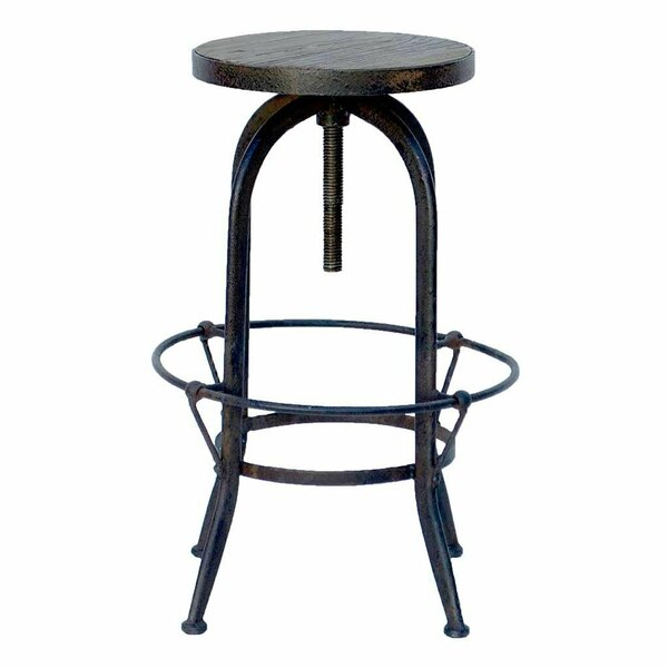 Elspeth Reclaimed Adjustable Height Swivel Bar Stool by Williston Forge Williston Forge