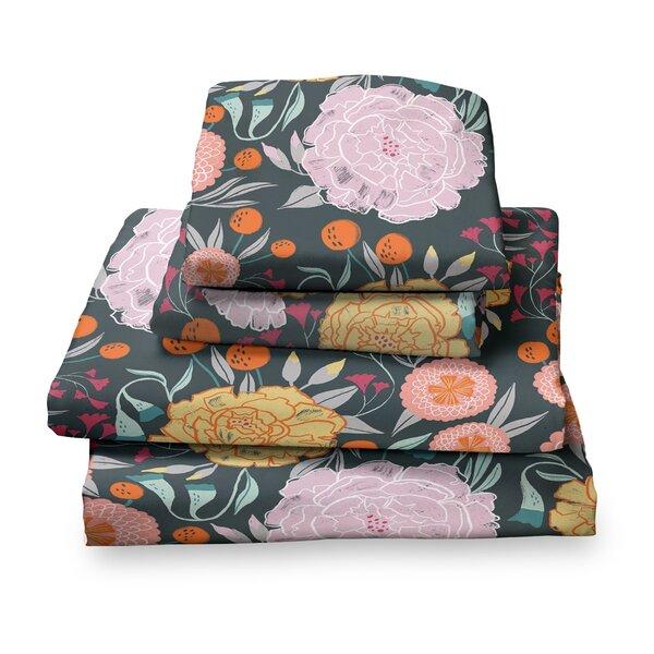 Detrick Floral Sheet Set by Harriet Bee