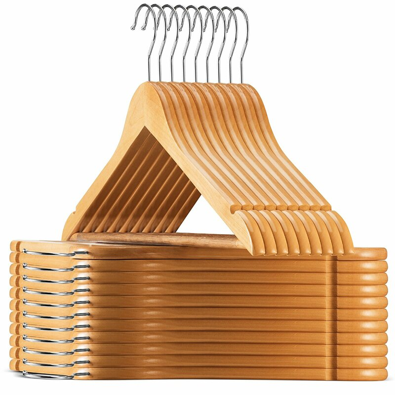 Blane Solid Lotus Wood Non-Slip Hangers