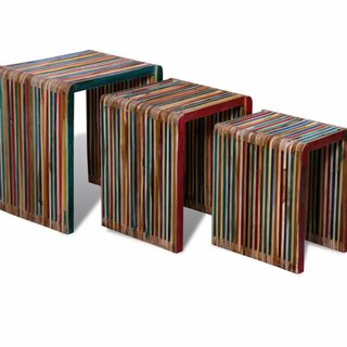 Amstelveen 3 Piece Nesting Tables by World Menagerie SKU:CA808845 Shop