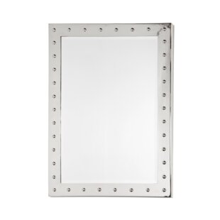 Worlds Away Nickel Plated Studded Accent Mirror