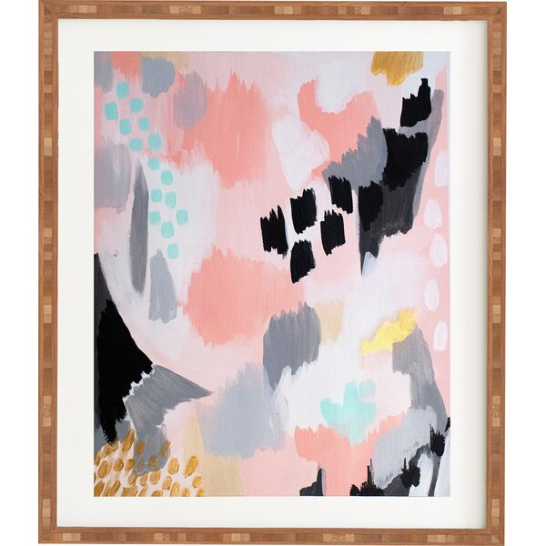 Serenity Abstract Framed Painting Print by East Urban Home