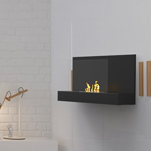 Conleth Ventless Wall Mounted Bio-Ethanol Fireplace by Orren Ellis