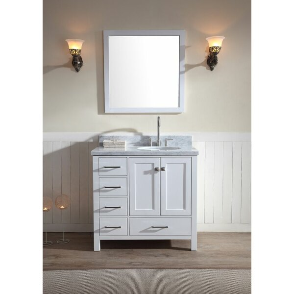 Marine Modern 37 Single Bathroom Vanity Set with Mirror by Andover Mills