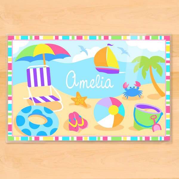 Summertime Girls Personalized Placemat by Olive Kids