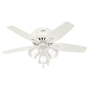 Reviews 42 Newsome Low Profile 5 Blade Ceiling By Hunter Fan