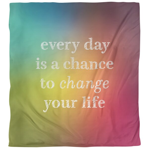 Change Your Life Quote Single Duvet Cover