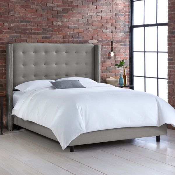 Jessa Tufted Upholstered Standard Bed by Skyline Furniture