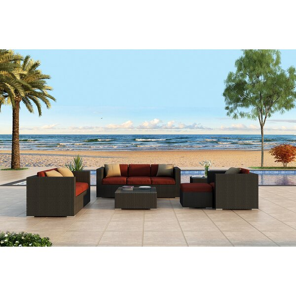 Urbana 5 Piece Sunbrella Sofa Set with Cushions by Harmonia Living