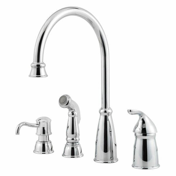 Avalon Single Handle Kitchen Faucet with Side Spray by Pfister