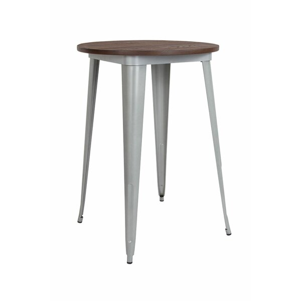 Lela Round Metal Indoor Pub Table by Williston Forge