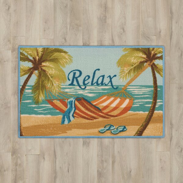Ginevra Blue Relax Area Rug by Highland Dunes