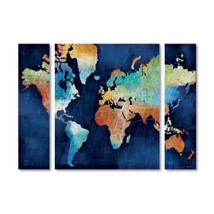 'Seasons Change' by Michael Mullan 3 Piece Graphic Art on Wrapped Canvas Set by Trademark Fine Art