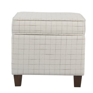 Carrol Windowpane Storage Ottoman George Oliver