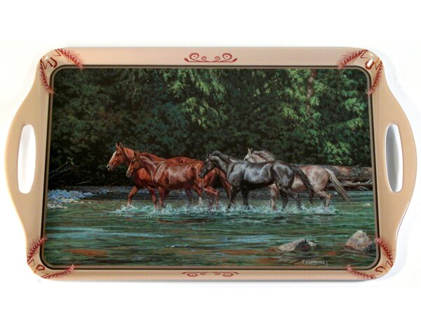 Melamine Horses Stream Serving Platter by MotorHead Products