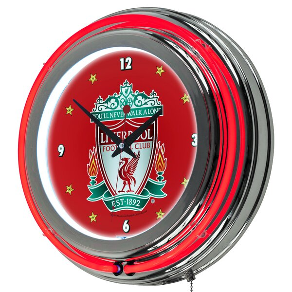 English Premier League Neon 14.5 Wall Clock by Trademark Global
