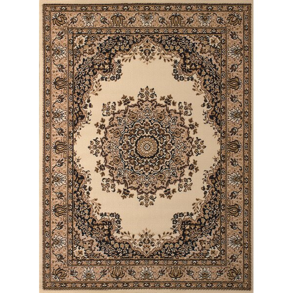Dallas Floral Kirman Ivory Area Rug by United Weavers of America
