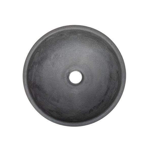 Concrete Circular Vessel Bathroom Sink
