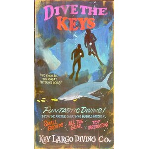 Dive the Keys Vintage Advertisement Plaque by Red Horse Arts