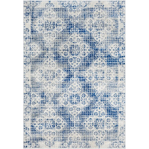 Hillsby Distressed Dark Blue/Light Gray Area Rug by Mistana