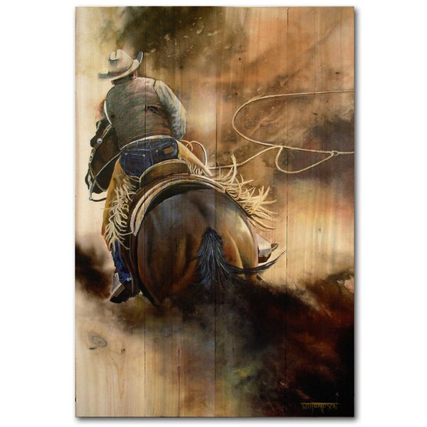 Ropin the Wind Painting Print Plaque by WGI-GALLERY