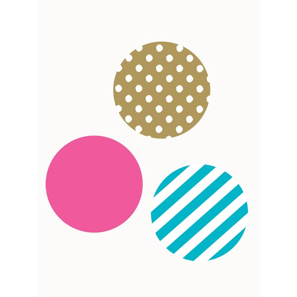 Mixed Patterned Dots Wall Decal by Simple Shapes