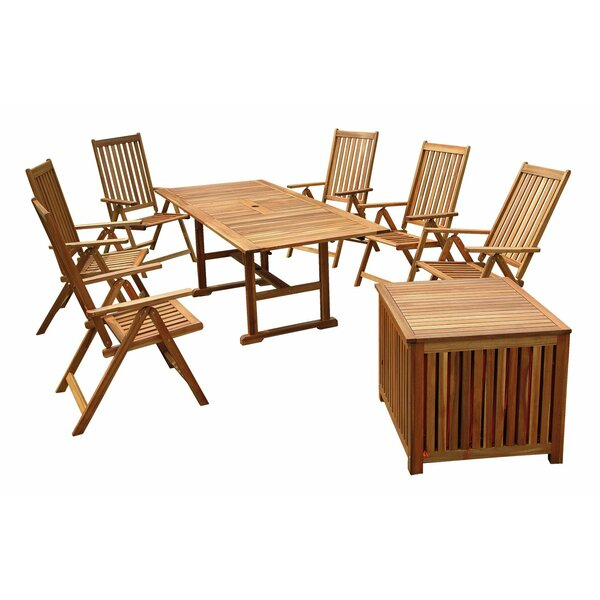 Poulard 8 Piece Dining Set by Rosecliff Heights