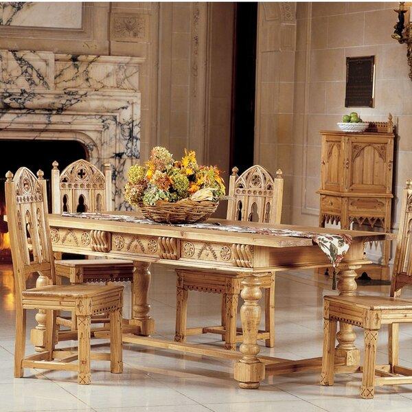 Design Toscano Sudbury Solid Pine Dining Table Wayfair
