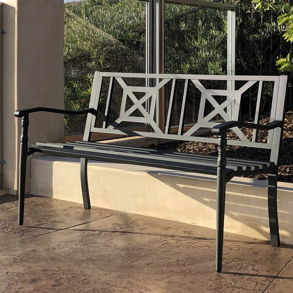 Jonnie Metal Garden Bench By Red Barrel Studio by Red Barrel Studio Purchase